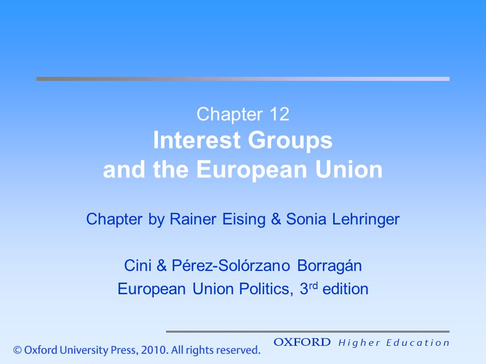 Chapter 12 Interest Groups and the European Union