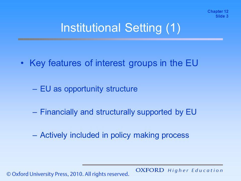 Institutional Setting (1)