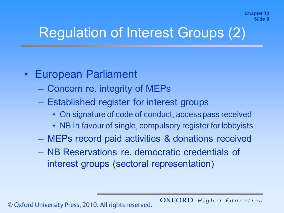 Regulation of Interest Groups (2)