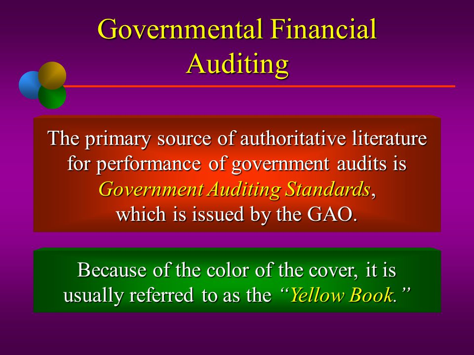 Governmental Financial Auditing