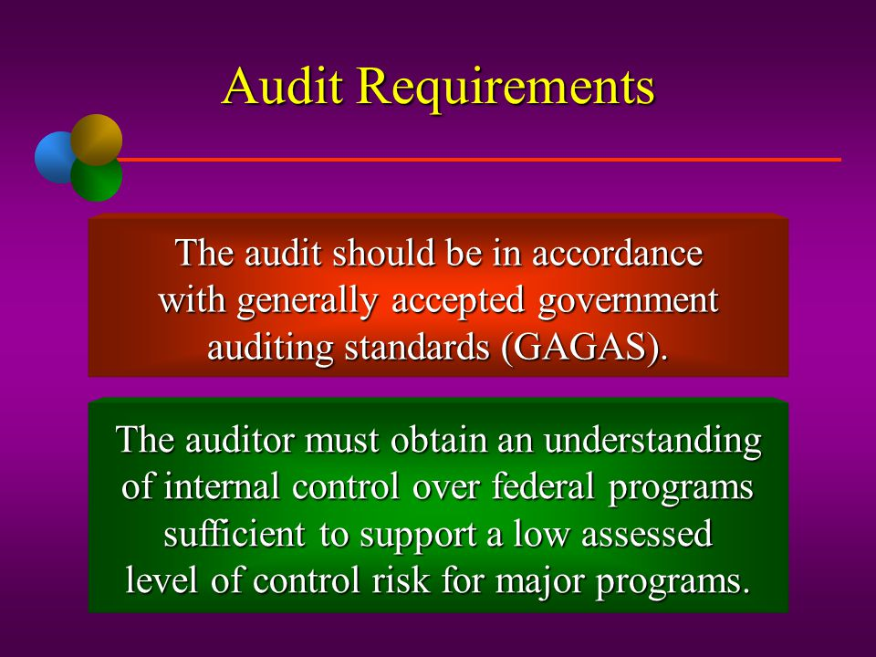 Audit Requirements The audit should be in accordance