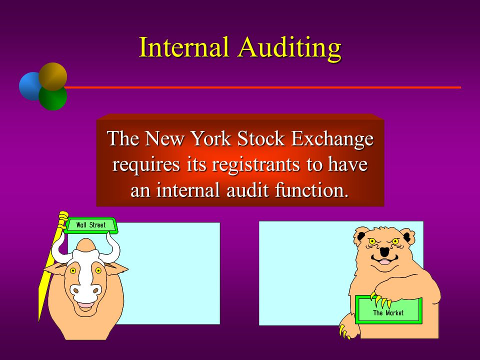 Internal Auditing The New York Stock Exchange