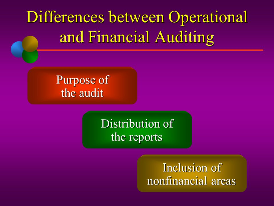 Differences between Operational and Financial Auditing