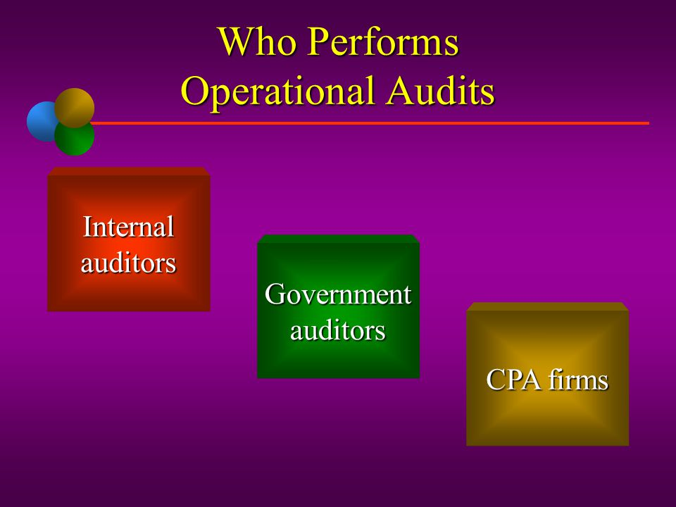 Who Performs Operational Audits