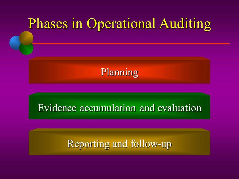 Phases in Operational Auditing
