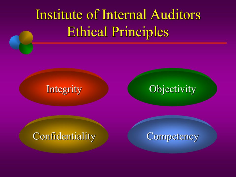 Institute of Internal Auditors Ethical Principles