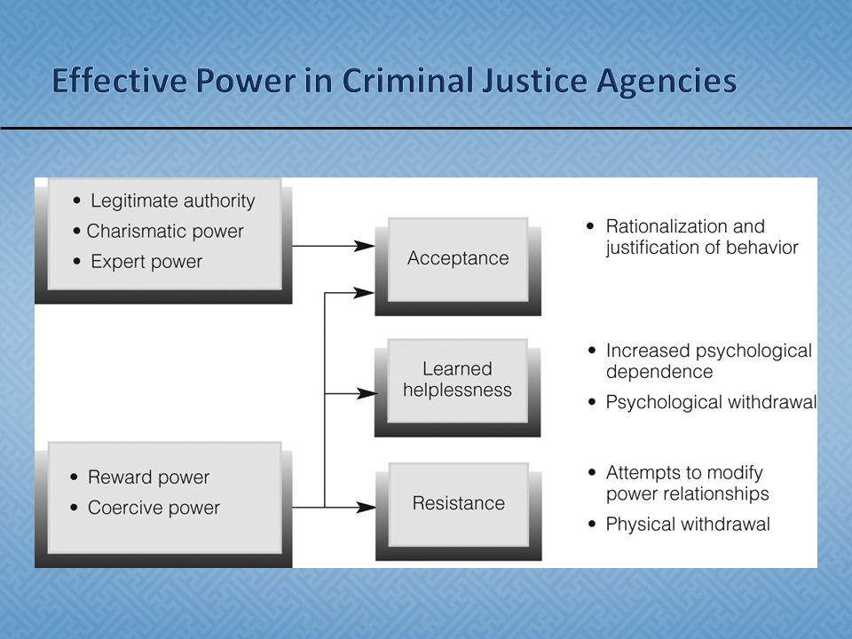 Effective Power in Criminal Justice Agencies