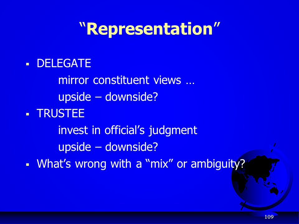 Representation DELEGATE mirror constituent views …