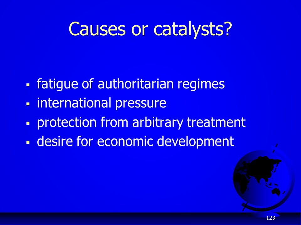 Causes or catalysts fatigue of authoritarian regimes