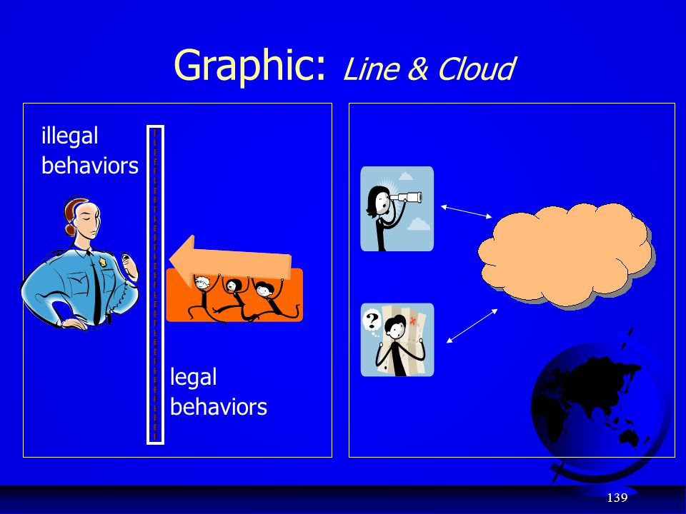 Graphic: Line & Cloud ` illegal behaviors legal