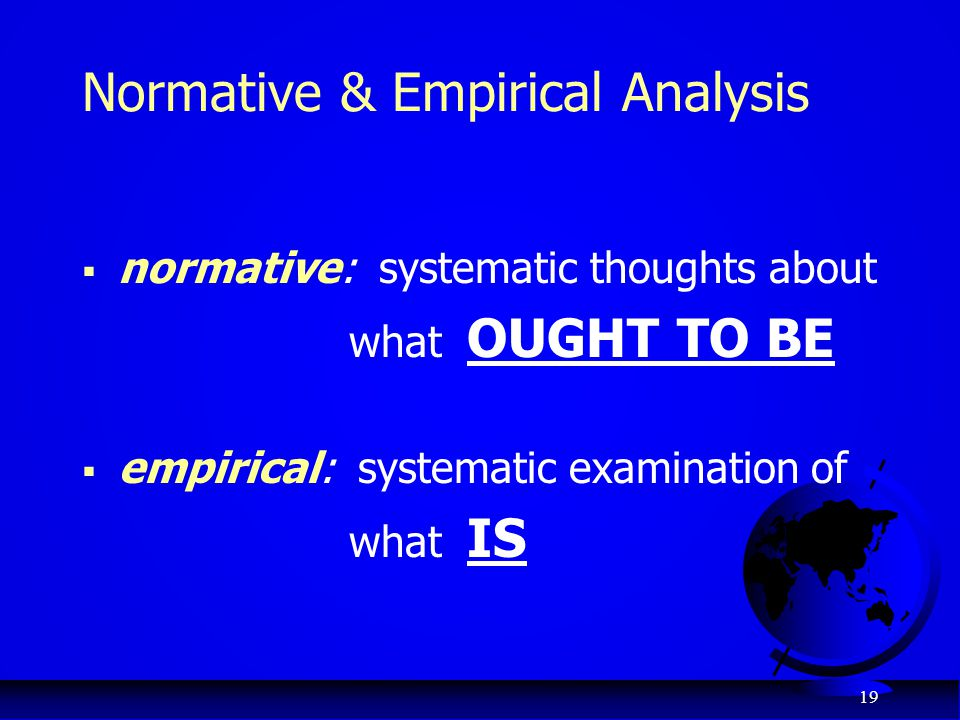 Normative & Empirical Analysis