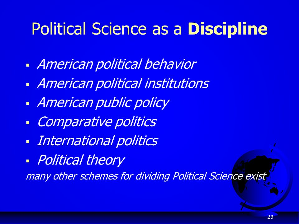 Political Science as a Discipline