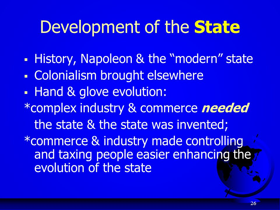 Development of the State