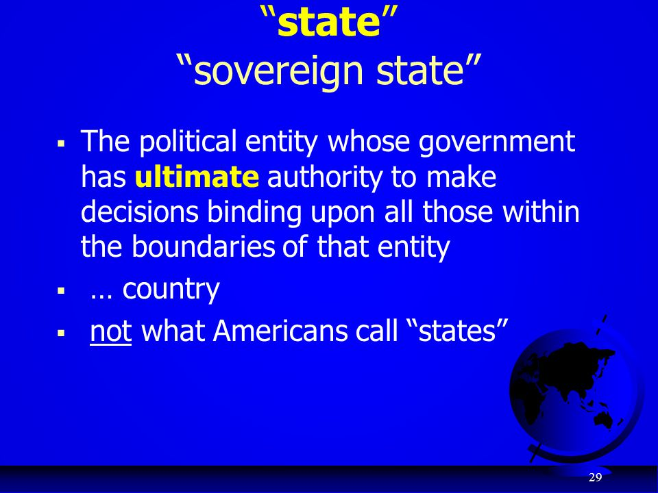 state sovereign state