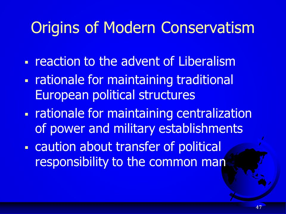 Origins of Modern Conservatism