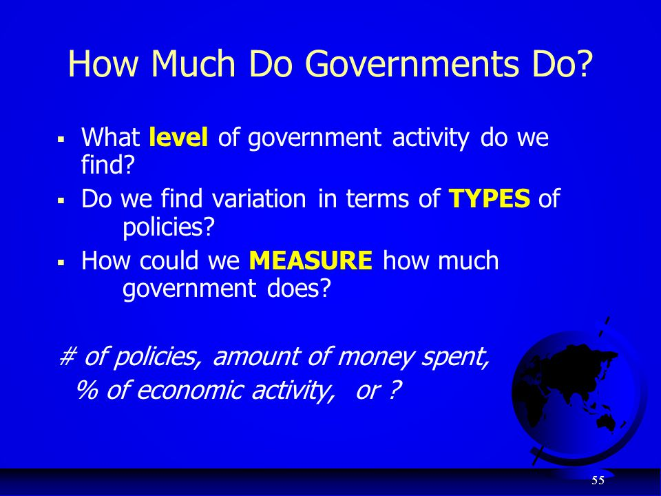 How Much Do Governments Do