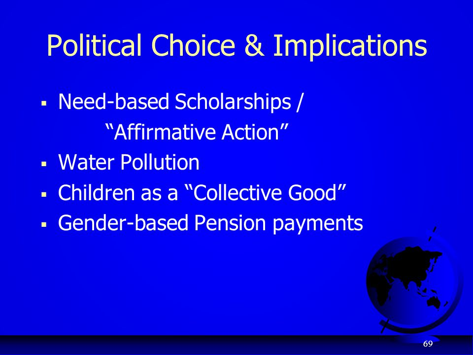 Political Choice & Implications