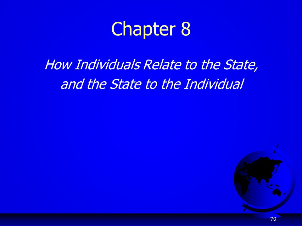 Chapter 8 How Individuals Relate to the State,