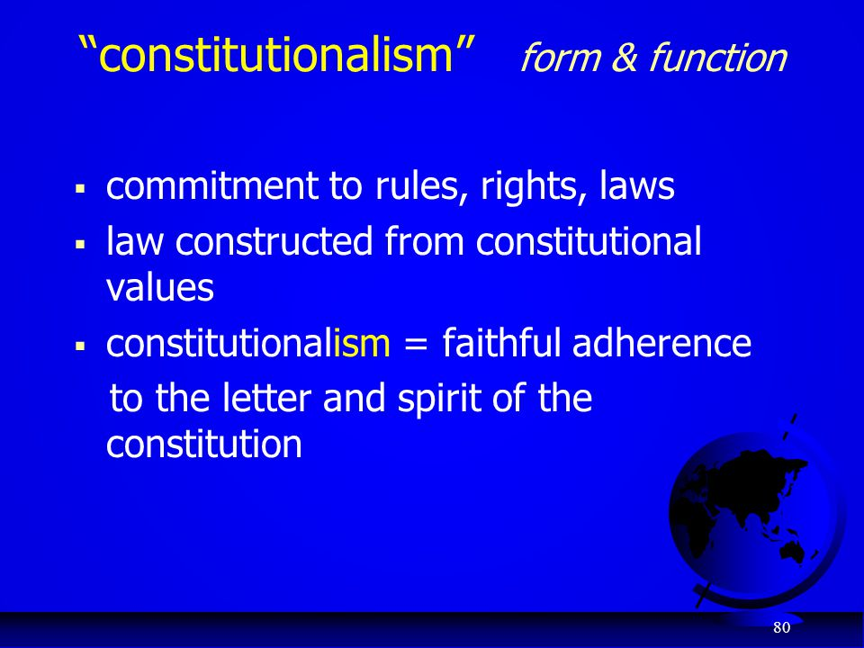 constitutionalism form & function