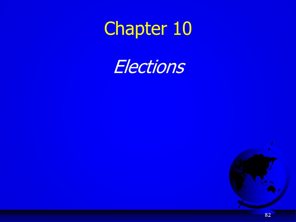 Chapter 10 Elections