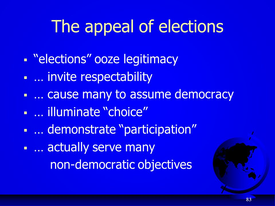 The appeal of elections
