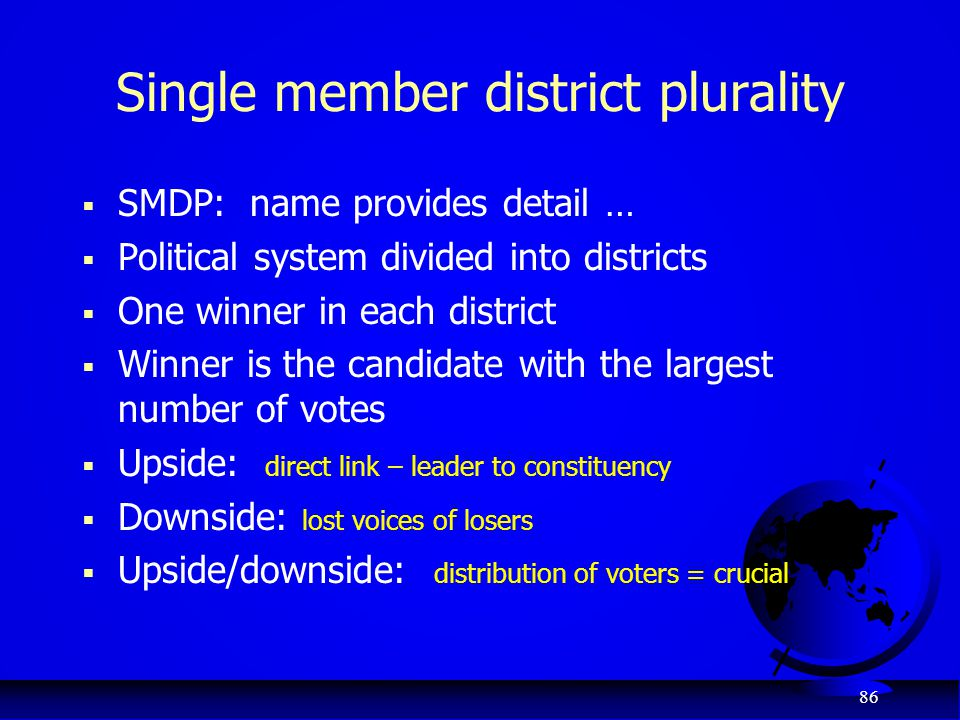 Single member district plurality