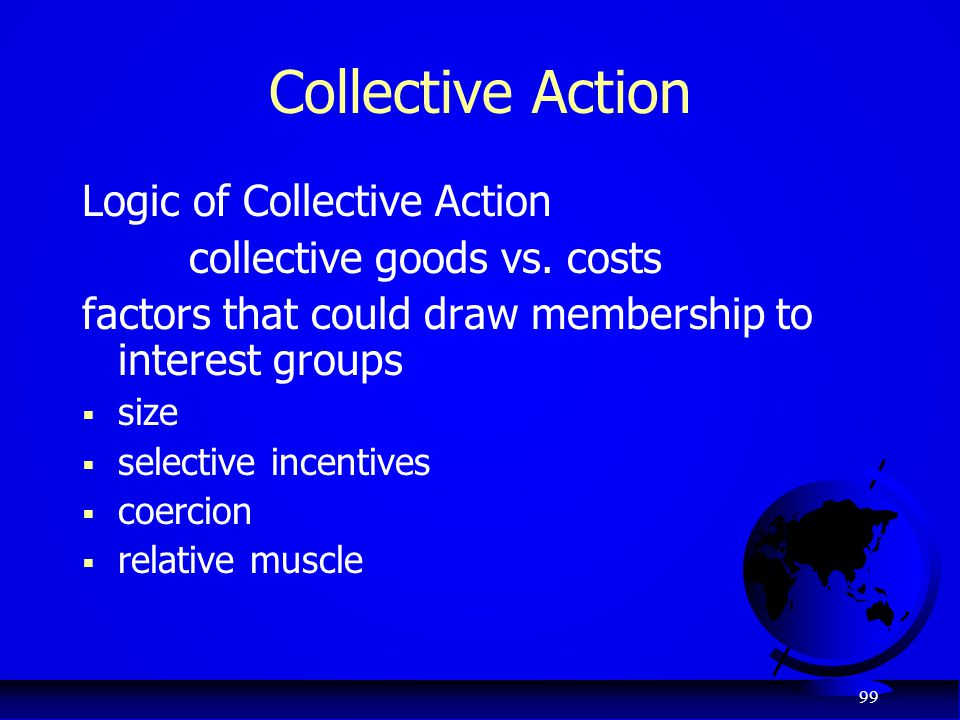 Collective Action Logic of Collective Action