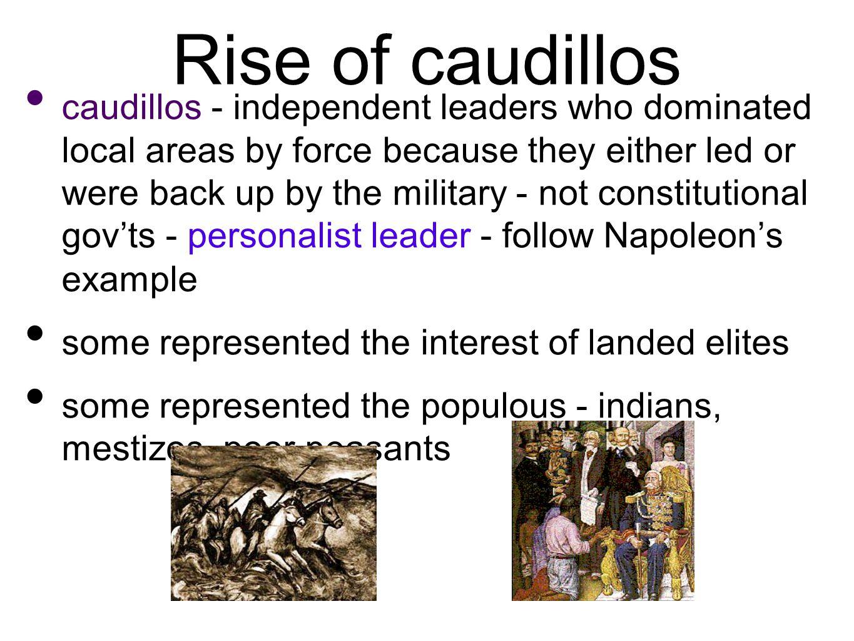 Rise of caudillos