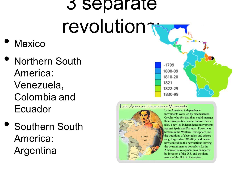 3 separate revolutions: