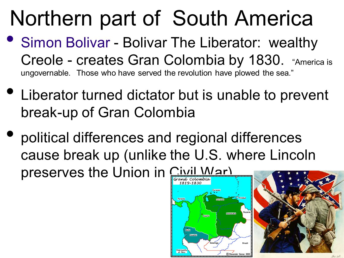 Northern part of South America