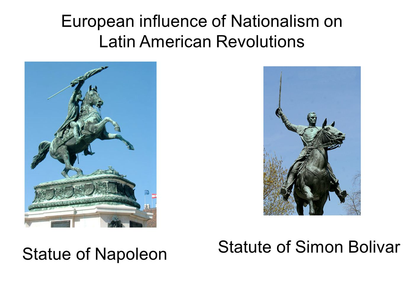 European influence of Nationalism on Latin American Revolutions