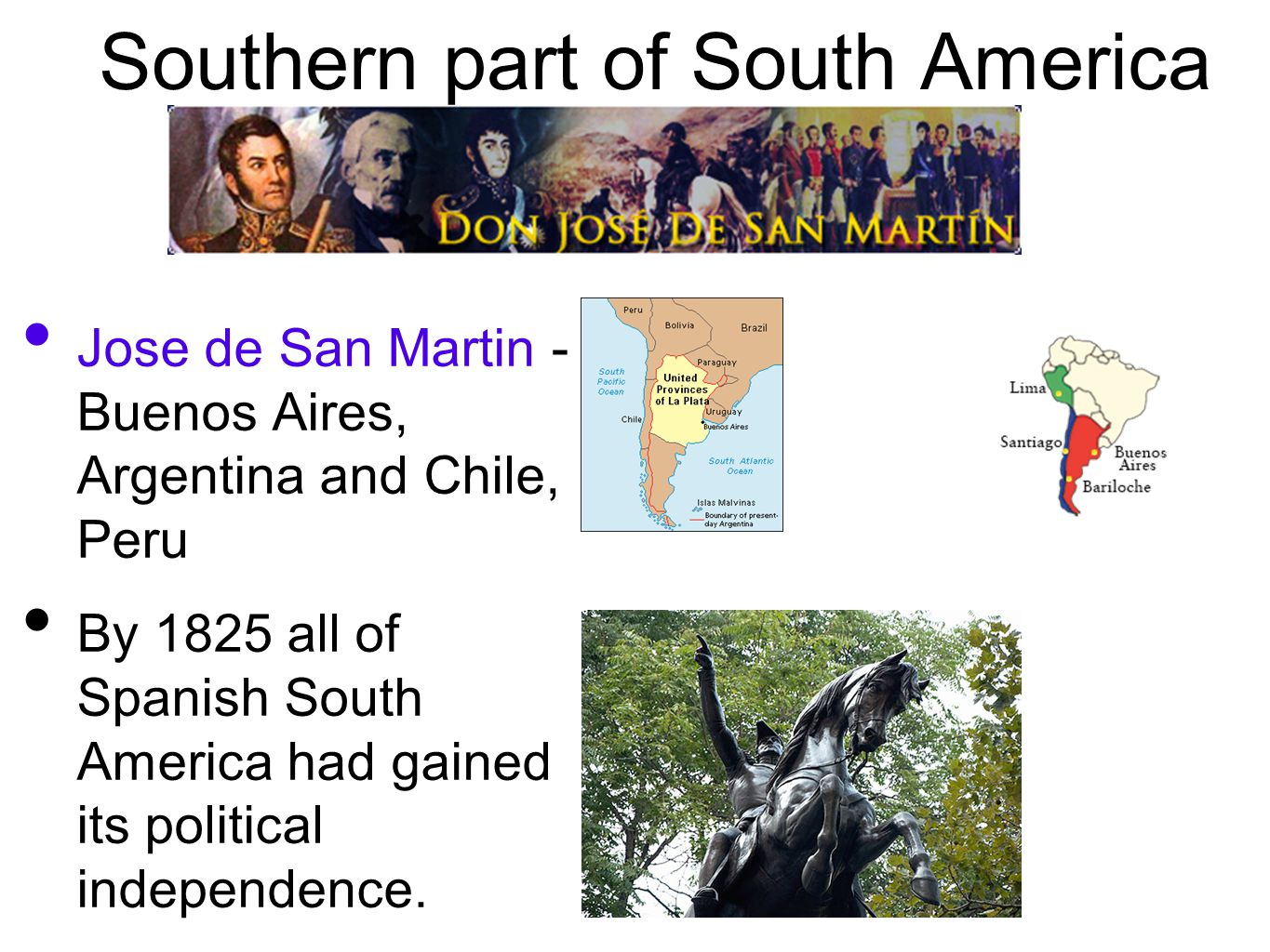 Southern part of South America