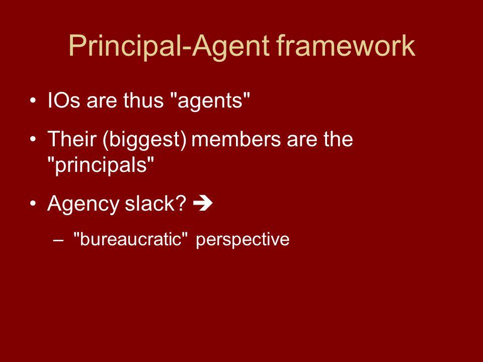 Principal-Agent framework