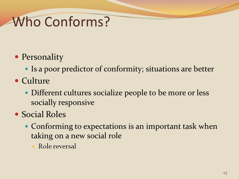Who Conforms Personality Culture Social Roles