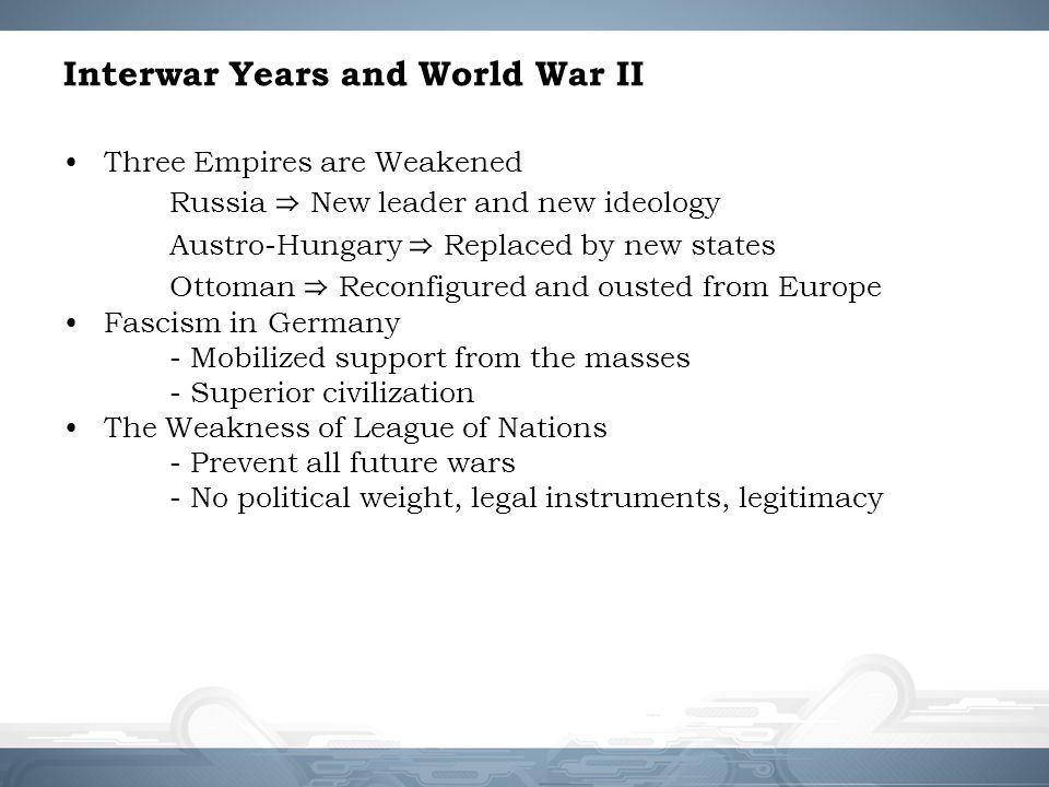 Interwar Years and World War II