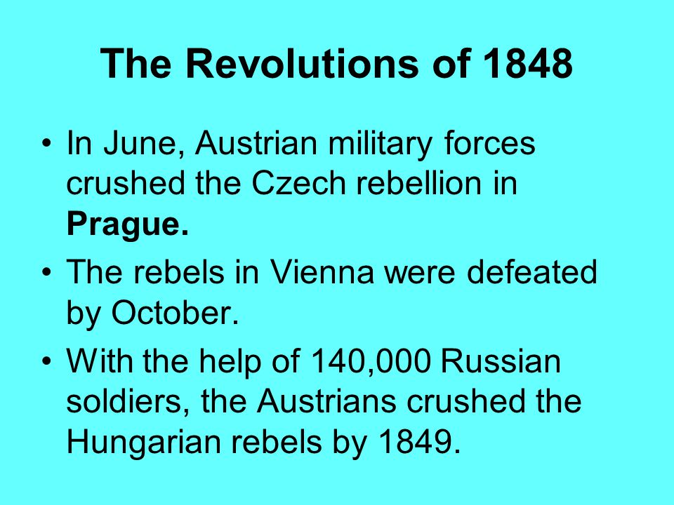 Revolutions Of 1848 Essay