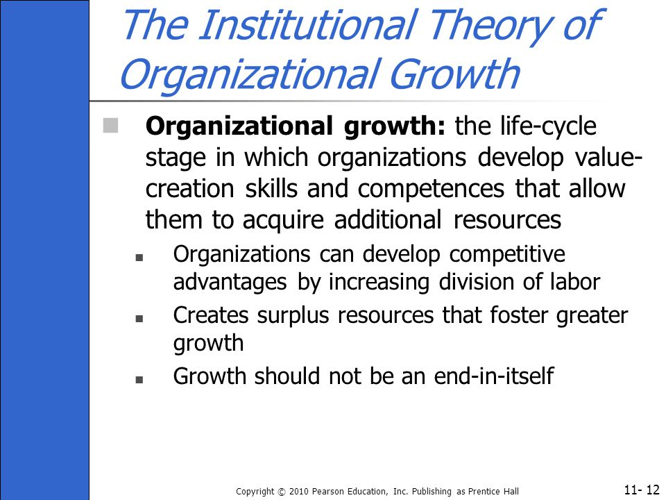 The Institutional Theory of Organizational Growth