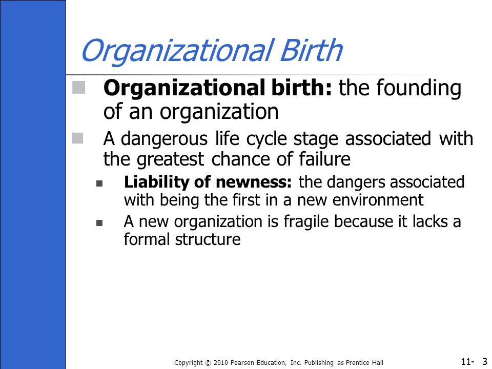 Organizational Birth Organizational birth: the founding of an organization.