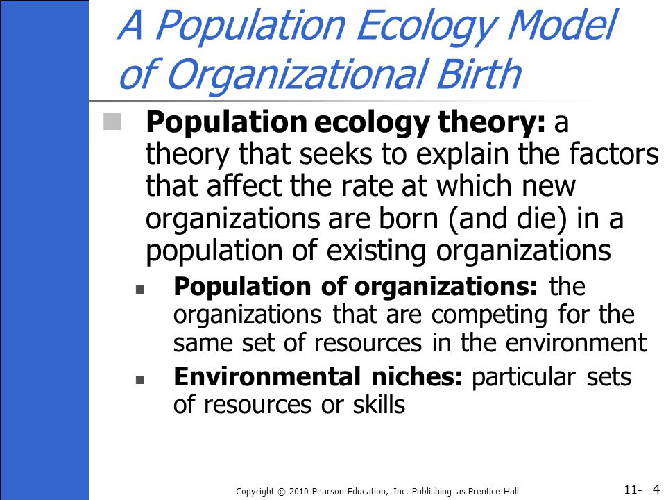 A Population Ecology Model of Organizational Birth