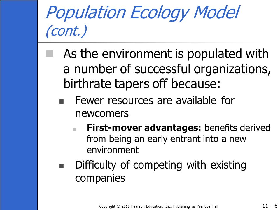 Population Ecology Model (cont.)
