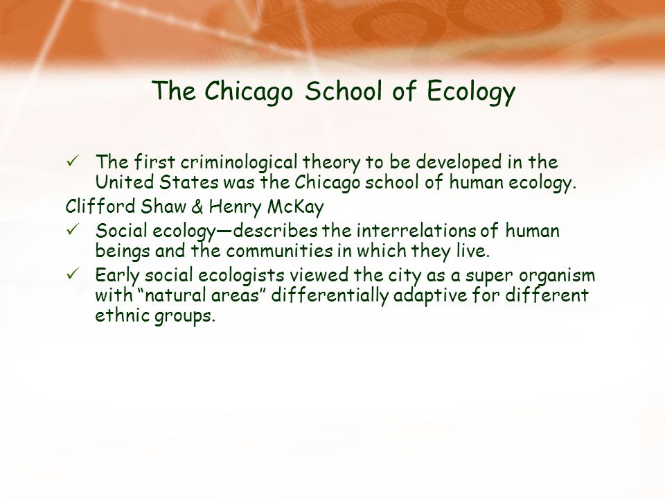 The Chicago School of Ecology
