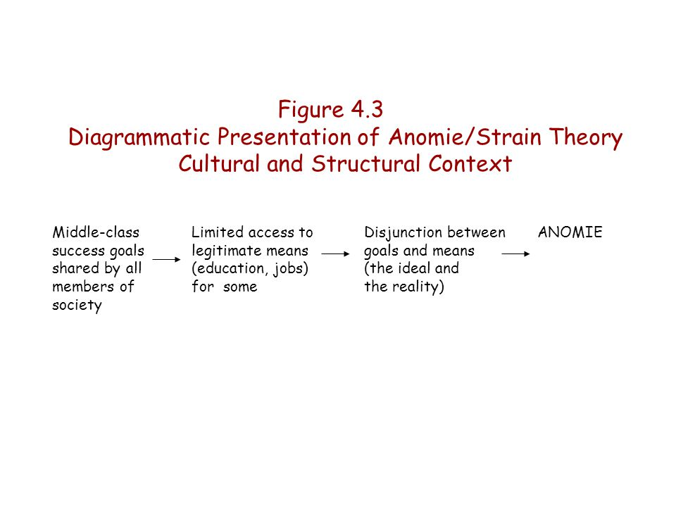 Diagrammatic Presentation of Anomie/Strain Theory