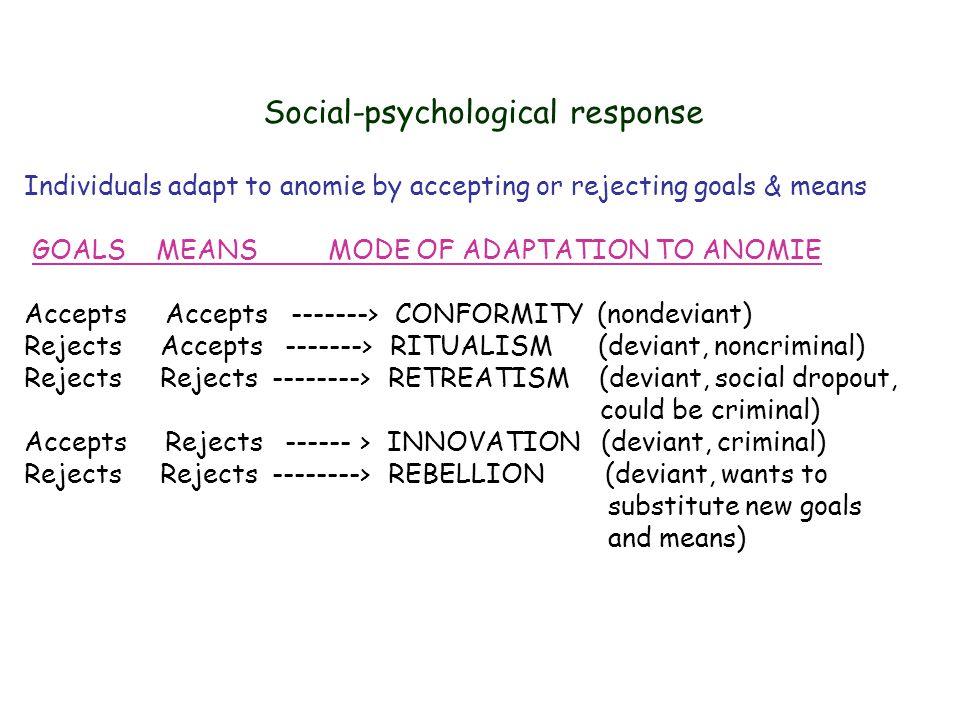 Social-psychological response