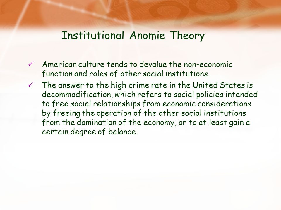 Institutional Anomie Theory