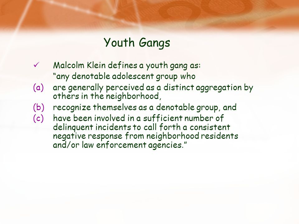 youth gangs and its activities Vision safe and healthy youth connected to their families, schools, communities, and their futures mission we exist to ensure safe and healthy opportunities for san jos 's youth, free of gangs and crime, to realize their hopes and dreams, and become successful and productive in their homes.