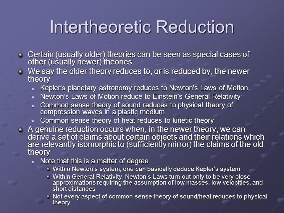 Intertheoretic Reduction