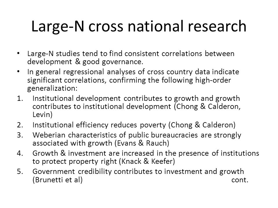 Large-N cross national research