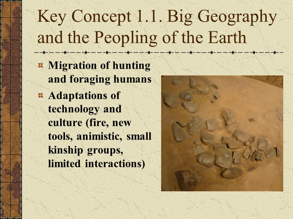 Key Concept 1.1. Big Geography and the Peopling of the Earth