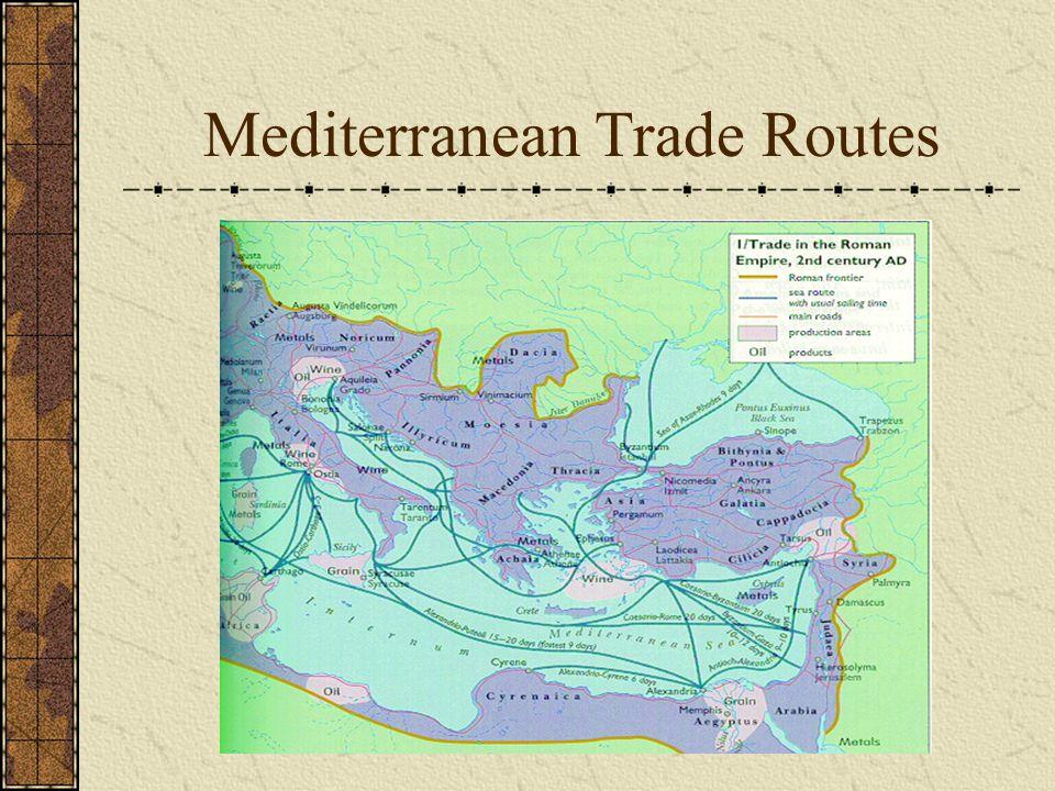 Mediterranean Trade Routes