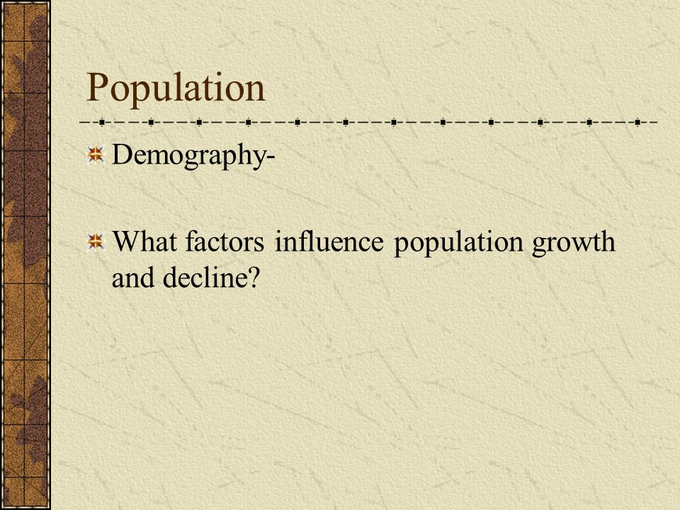 Population Demography-
